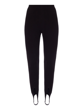 Black High-Waisted Stirrup Leggings