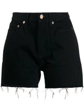 Saint Laurent - Black Denim Shorts - Women