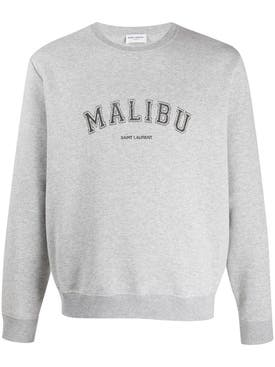 Saint Laurent - Malibu Crew-neck Sweatshirt Grey - Men