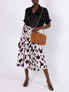 Black sheer print blouse