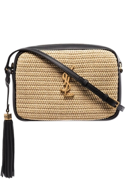 Lou Raffia Crossbody Camera Bag