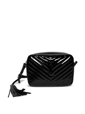 Patent Leather LouLou Camera Bag Black