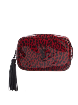 Red leopard print crossbody bag