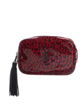 Red leopard print crossbody bag