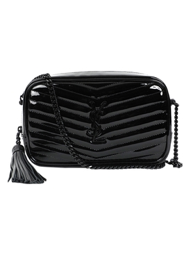 Lou Patent Mini Shoulder Bag, Black