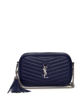 MINI LOU QUILTED SHOULDER BAG Azure Blue