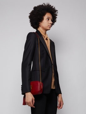QUILTED MINI LOU BAG OPYUM RED
