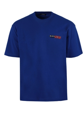 24/7 News logo t-shirt ELECTRIC BLUE