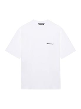 Medium Fit Cotton T-shirt WHITE/BLACK