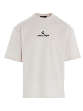 Medium Fit Logo T-shirt CHALKY WHITE