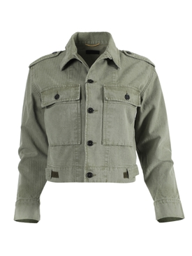 Military Cropped Jacket