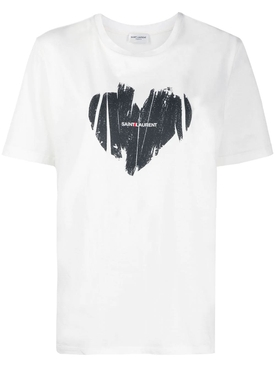 White and Black Heart T-shirt