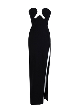 Cut-out high-slit gown