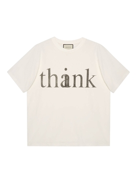 Oversized Think/Thank you t-shirt