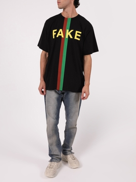 FAKE/NOT LOGO T-SHIRT BLACK
