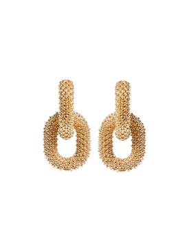 Gold-tone Interlocking Hoop Earrings