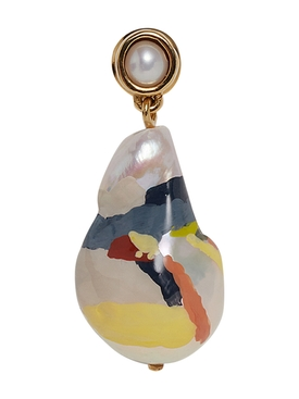 Baroque pearl drop earring MULTICOLOR