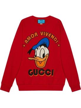 X Disney Donald Duck Red Sweater