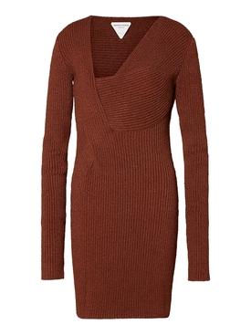 Rust sable knit dress