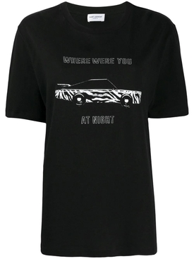 Where Were You At Night T-shirt Black