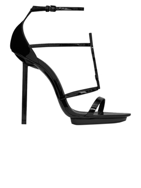 Saint Laurent - Cassandra 110 Logo High Sandals Black - Women