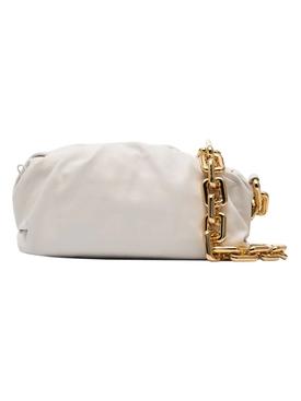 Chain Strap Pouch WHITE-GOLD