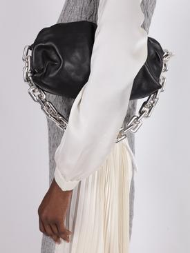 Chain Strap Pouch BLACK-SILVER