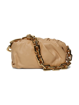 Chain Pouch, Almond-Gold