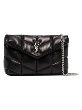 Quilted Mini Loulou Bag BLACK