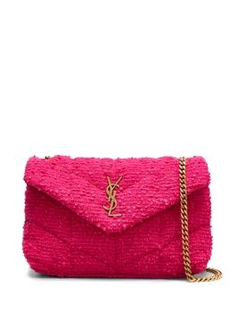 Tweed Toy Bag Magenta Pink