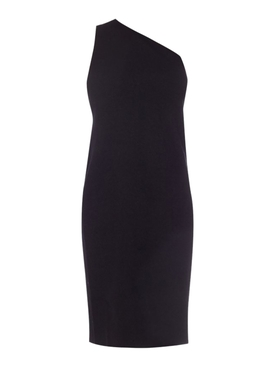 Bottega Veneta - One-shoulder Compact Frise Dress Black - Women