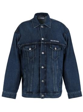 Oversized denim jacket, daddy wash
