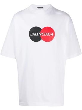 Contrasting Circle Logo Graphic Print T-shirt WHITE