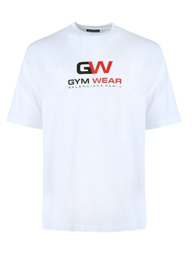 Gym wear logo t-shirt WHITE