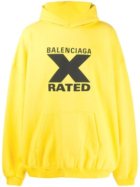 Balenciaga - X Rated Over-sized Logo Hoodie Yellow/ Black - Men
