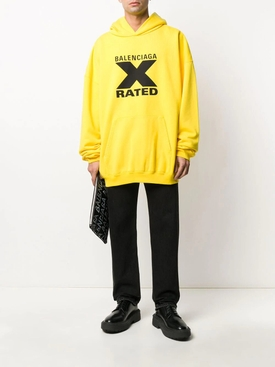 X Rated Over-sized Logo Hoodie YELLOW/ BLACK