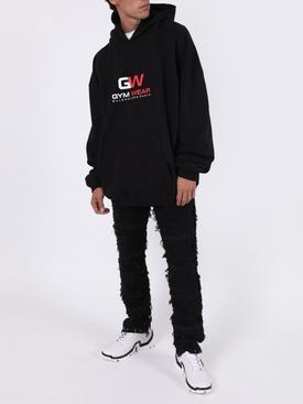 Gym wear logo hoodie BLACK