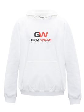 Gym wear logo hoodie WHITE