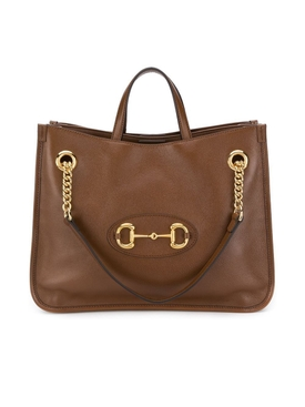 Brown 1955 Horsebit Medium Leather Tote