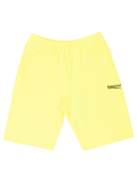 Fluorescent Yellow Sweat Shorts