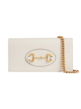 Horsebit wallet on chain, Mystic White