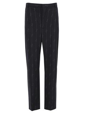 Pinstripe logo baggy trousers