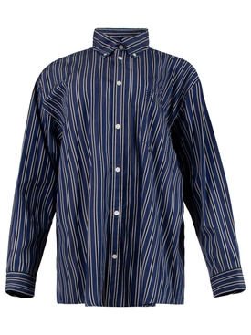 Navy Stripe Large Fit Shirt