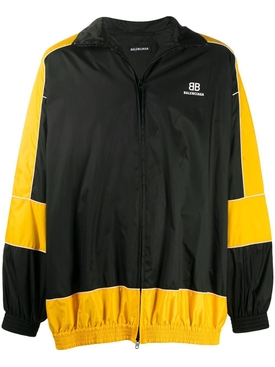 Yellow and black zip-up jacket