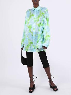leaf vine print blouse
