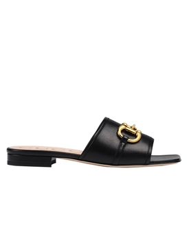 Gucci - Horsebit Leather Dava Sandals Black - Women