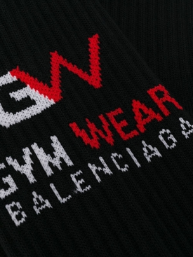 Cotton Logo Gym socks BLACK