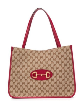 Red and beige 1955 Horsebit Tote Bag