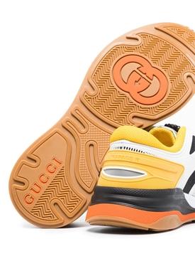 White and orange ultrapace sneaker
