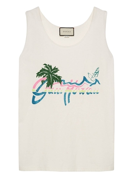 Gucci Hawaii print tank top